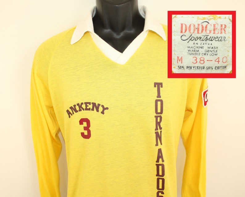 c7e3b1c6493 Ankeny Tornados 3 vintage long-sleeve collared shirt jersey
