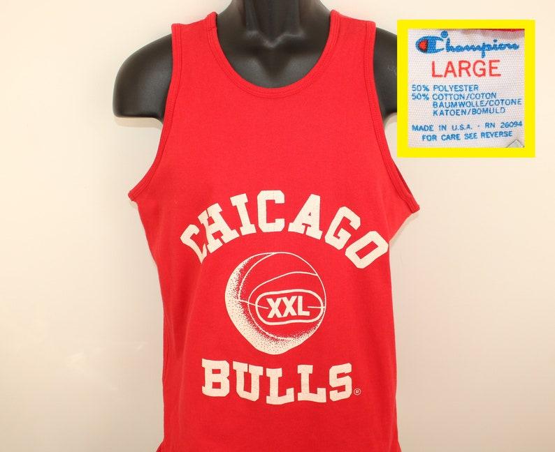 4218802c33f721 Chicago Bulls vintage double-layered jersey shirt M L Champion