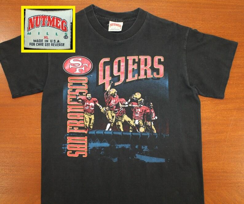 a83abc4c0c7 San Francisco 49ers vintage t-shirt Medium black 90s NFL
