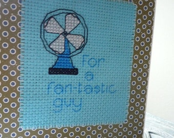 For A Fantastic Guy, Hand Stitched Greeting Card
