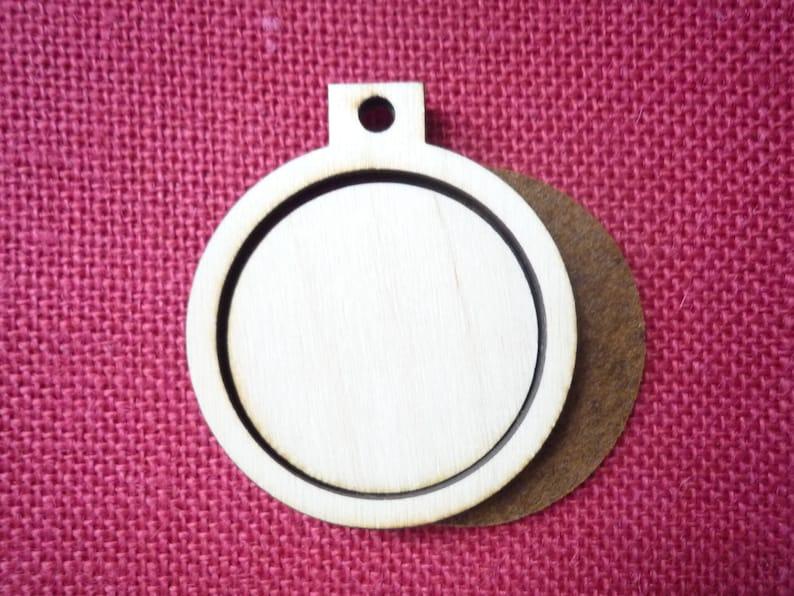 Wooden Mini hoop/frame  2 size image 0