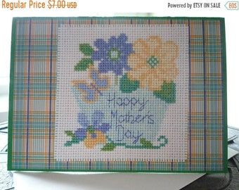 Happy Mother's Day, Hand Stitched Greeting Card