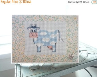 Is That A Cow In The Sky!, Hand Stitched Greeting Card