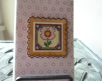 For You, Hand Stitched Greeting Card and Magnet