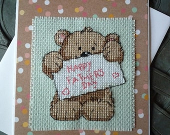 Happy Father's Day, Hand Stitched Greeting Card