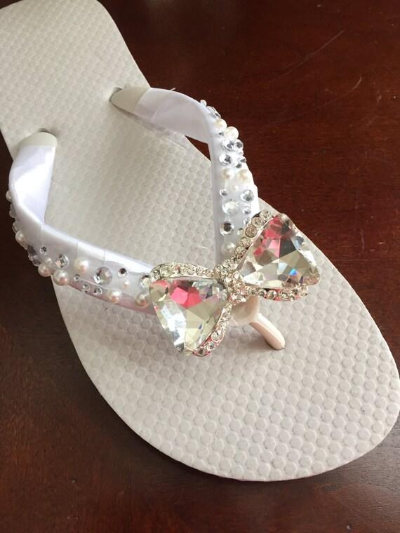 2afd910820836a Wedding Flip Flops Wedding Shoes Bridal Flip Flops Wedges
