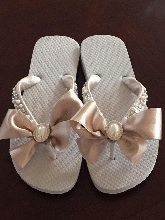 97fff4c4df36 Bridal Flip Flops Wedges Shoes. Wedding Flip Flops.Mother of