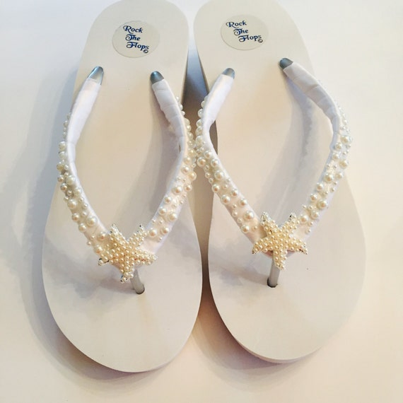 092e1005770e1f Wedding Flip Flops Bridal Flip Flops  Wedges Bridal Shoes