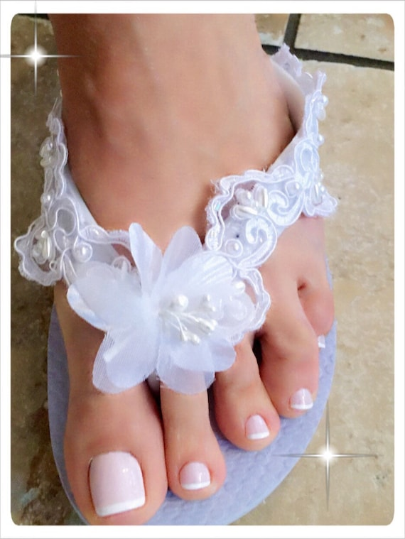 Wedding Shoes Flip Flops Bride Flip Flops Shoes Wedges Bridesmaid Shoes White Wedding Shoes Wedding Sandals Bridesmaid Sandals Bride Gifts