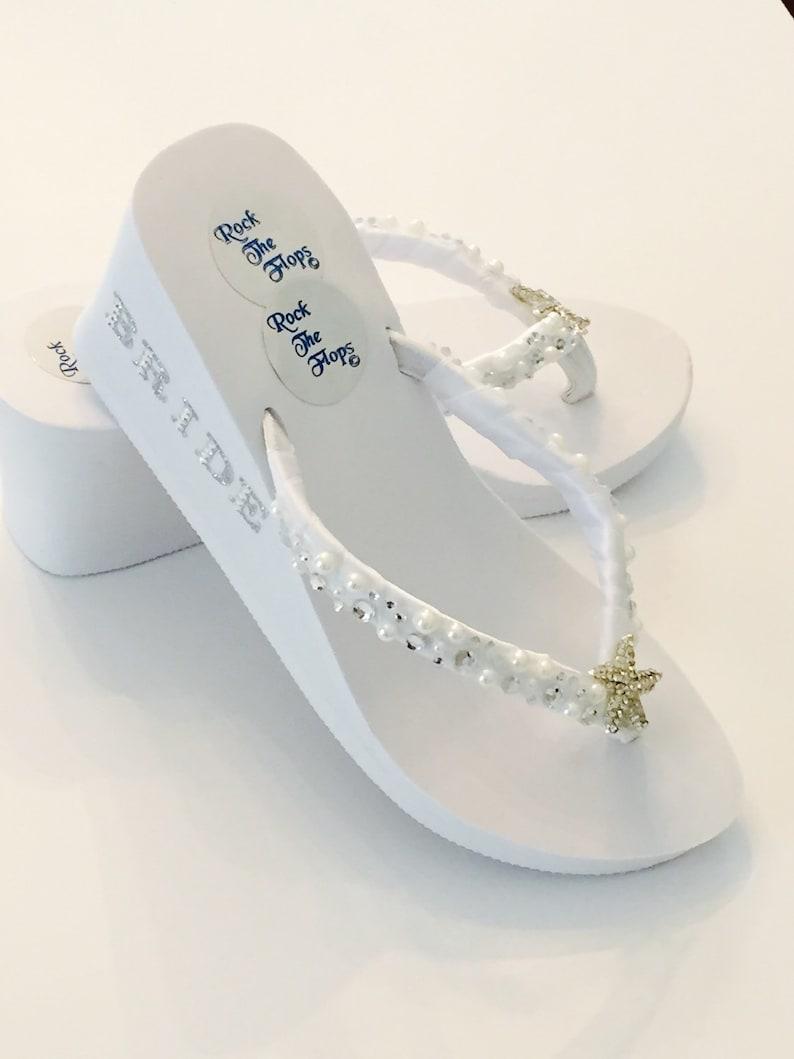 a96fc2d7e1642d Wedding Flip Flops. Bridal Flip Flops.Wedding Shoes.Bridal