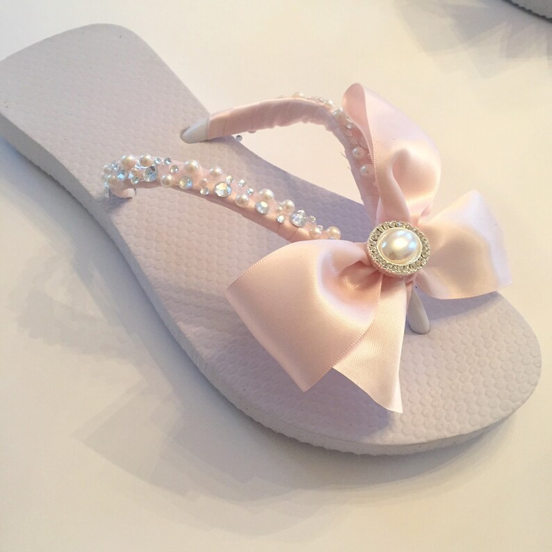 3b02eb40e Wedding Flip Flops Wedges Shoes.BRIDAL Flip Flops.Blush Bridal