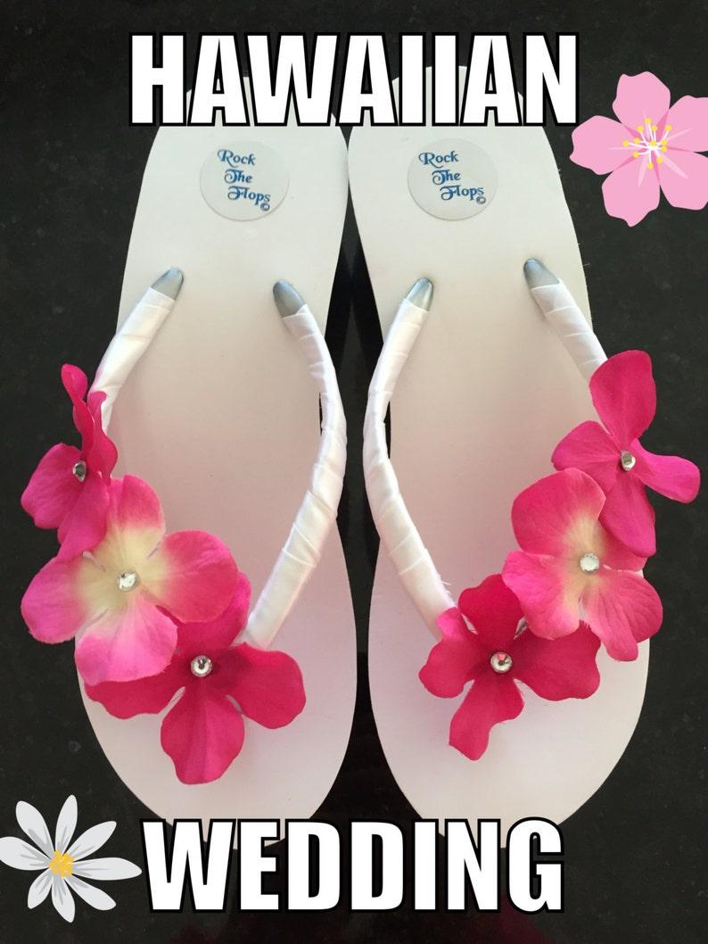 d1622c8d6075ab Bridal Flip Flop Wedges.Wedding Flip Flops. Pink Bridal