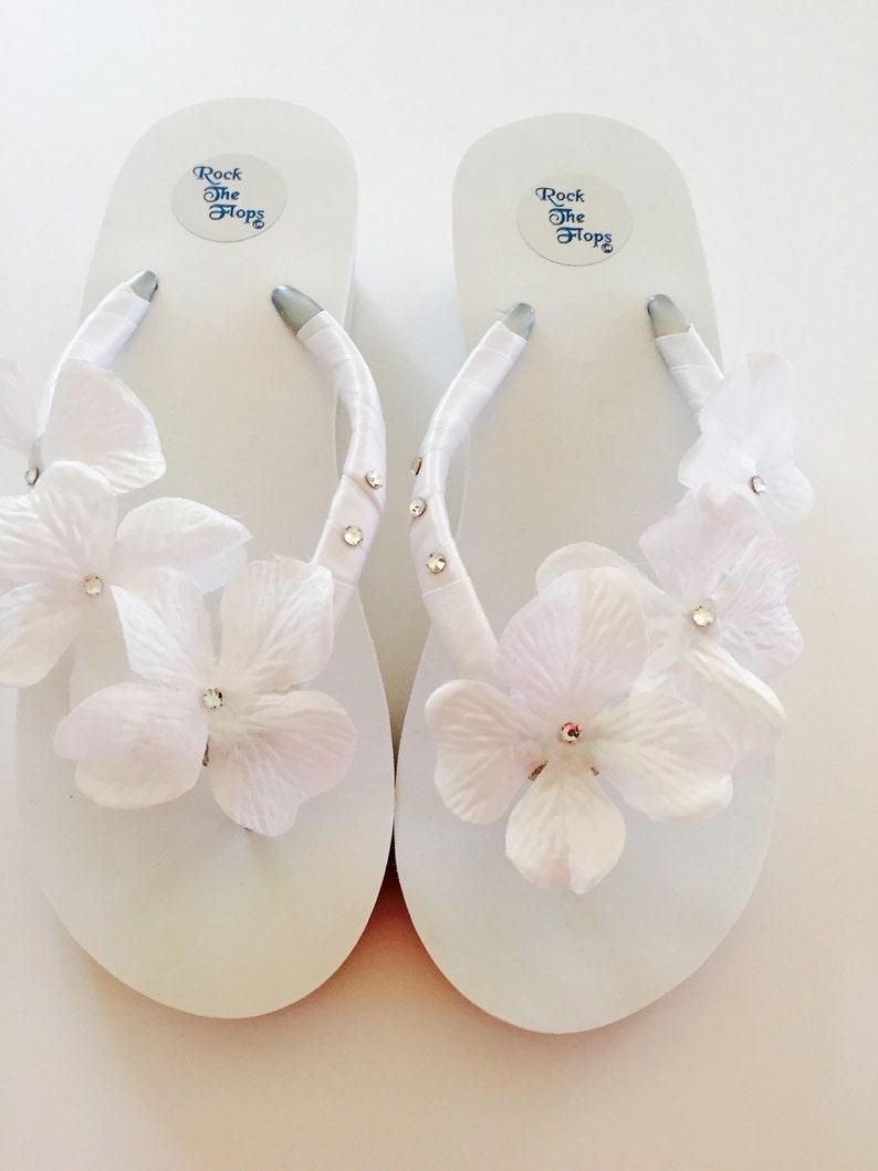 4d6fed9d91c75c WHITE Bridal Flip Flops.Wedding Flip Flops.Wedged Flip Flops.