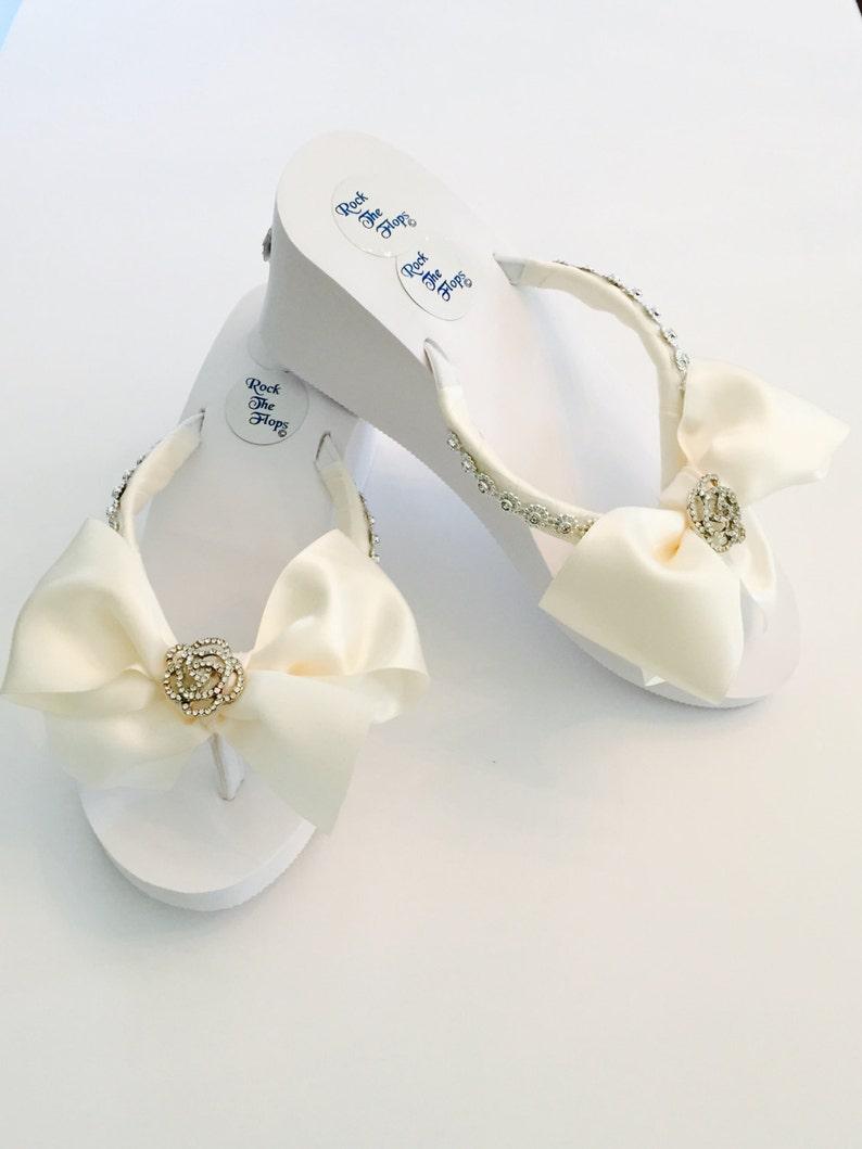 fb306bf2ac3177 Bridal Flip Flops Wedding Flip Flops.Wedding Shoes.Bridal