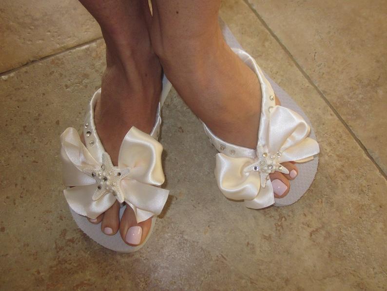 5b0e5119e Wedding Flip Flops.Bride Flip Flops.Wedding Shoes