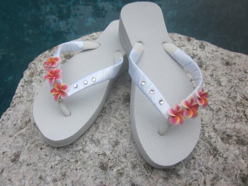 ead0458a81aceb BEACH WEDDING Flip Flops Bridal Flip Flops.Wedding Flip