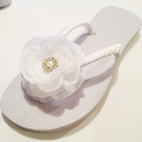 68fa0e4a9dfcf Bridal Flip Flops Wedges.Wedding Flip Flops.Wedding Shoes.White Flip  Flops.Beach Bride Shoes.Bridesmaids Shoes Sandals.White Wedding Sandals