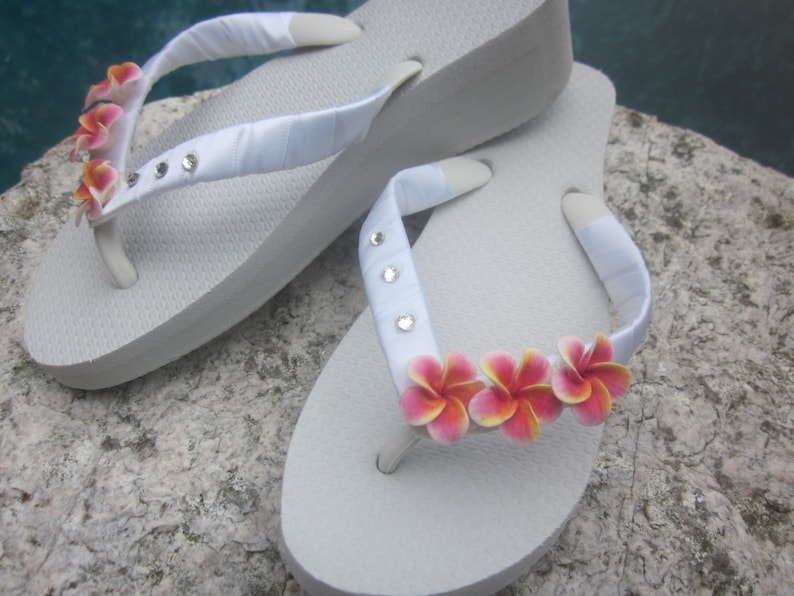 25fb9d4d59120f Bridal Flip Flops Wedding Flip Flops Wedges Beach