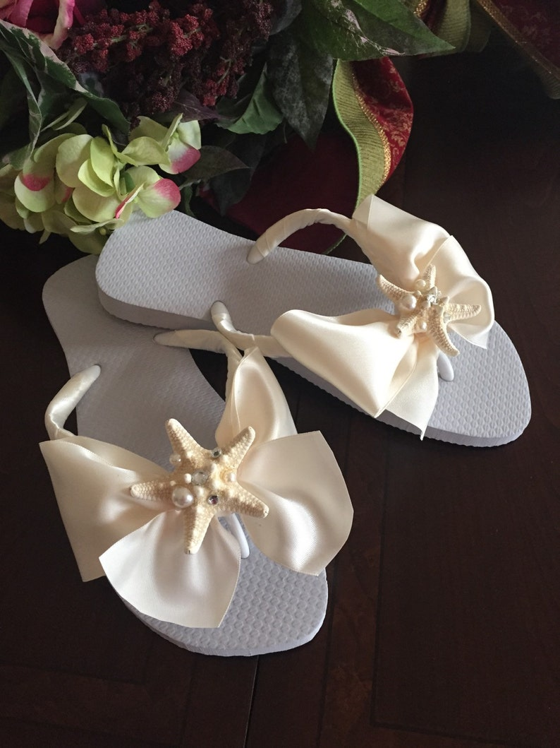 74d5b8219fb5 Wedding Bridal Shoes Flip Flop Wedges for the Bride with