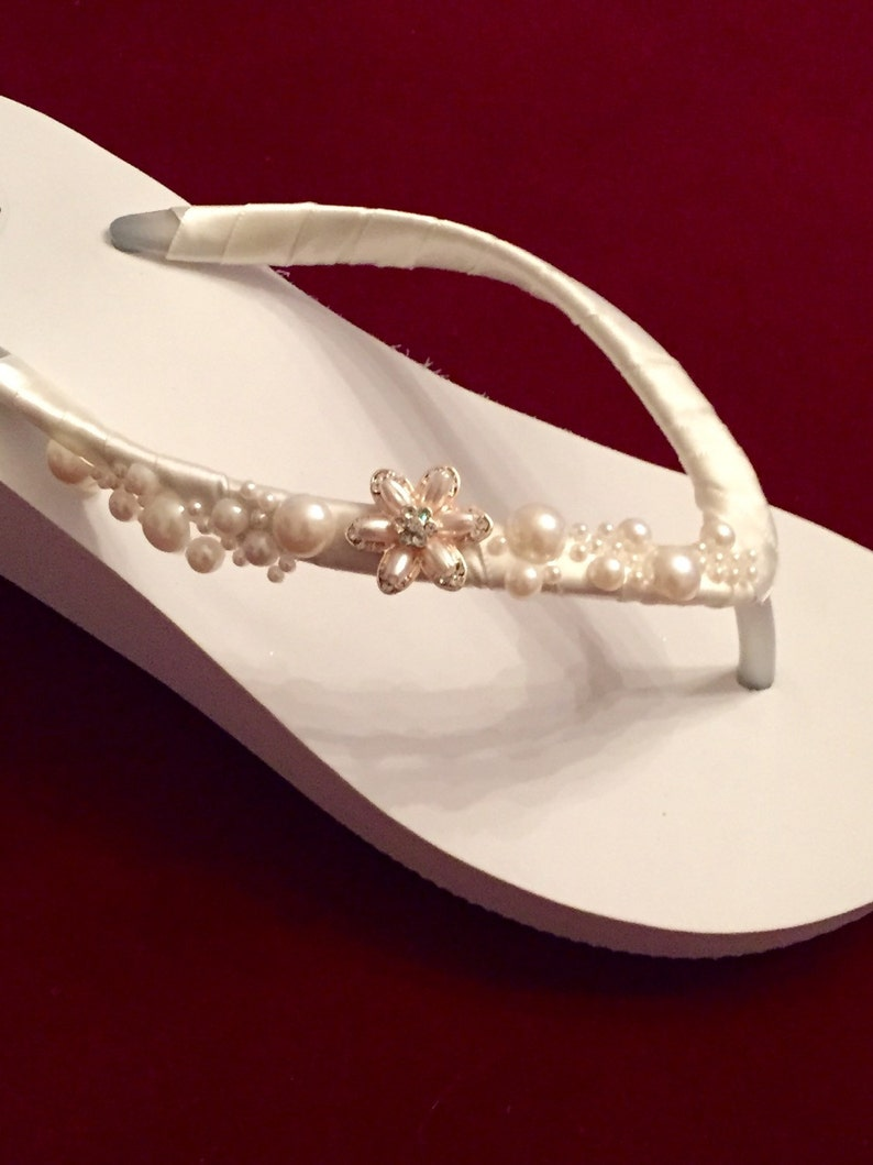 71e44949e631 Wedding Flip Flops.Bridal Flip Flops. Platform Flip
