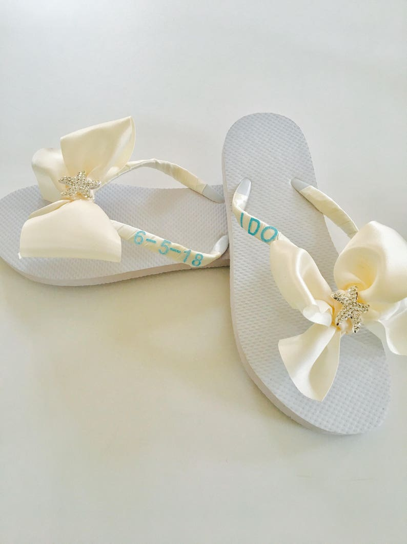 a5422a44f Bridal Flip Flops. Wedding Flip Flops. Wedding Shoes.