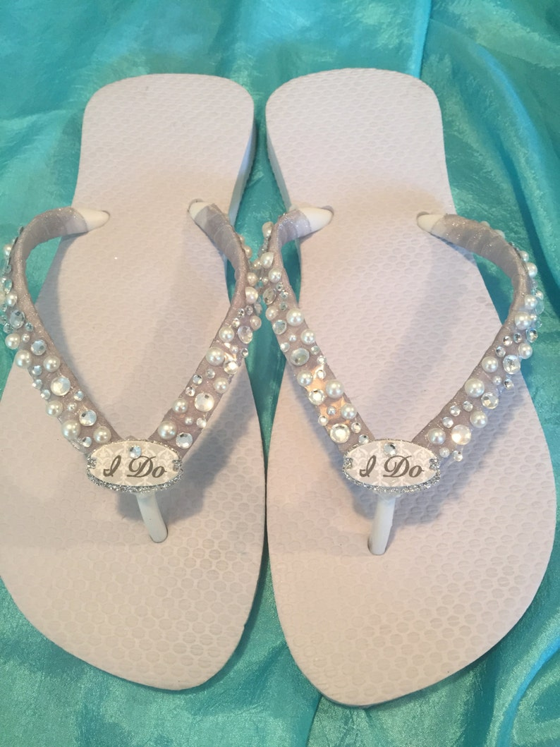 2581ea1ed4c WEDDING Flip FlopsBridal Flip Flops Wedges. I DO Bridal