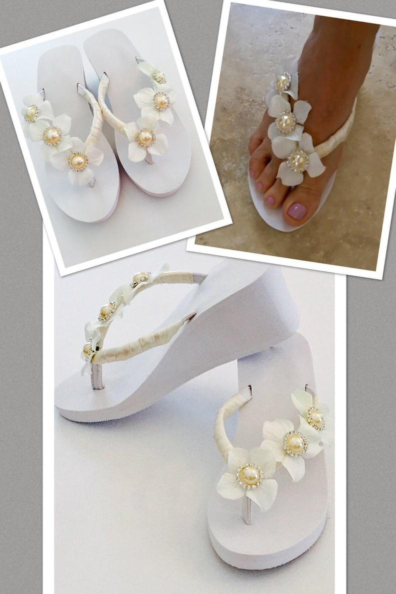 35bfb61808d5ae Wedding Flip Flops Shoes Bridal Shoes Bride Sandals Bridal