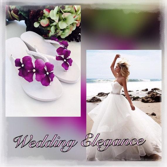 a9f6d7d5490d0 Bridal Flip Flops.Wedding Flip Flops.Platform Wedge Flip Flops
