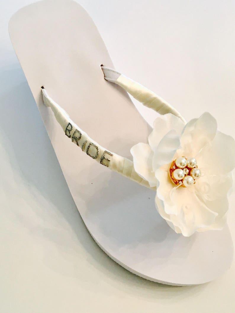 save off 20816 dad14 Hochzeit Flip Flops/Keile Hochzeit Schuhe Braut Schuhe Braut Flip Flops  Brautjungfern Sandalen Flower Girl Schuhe
