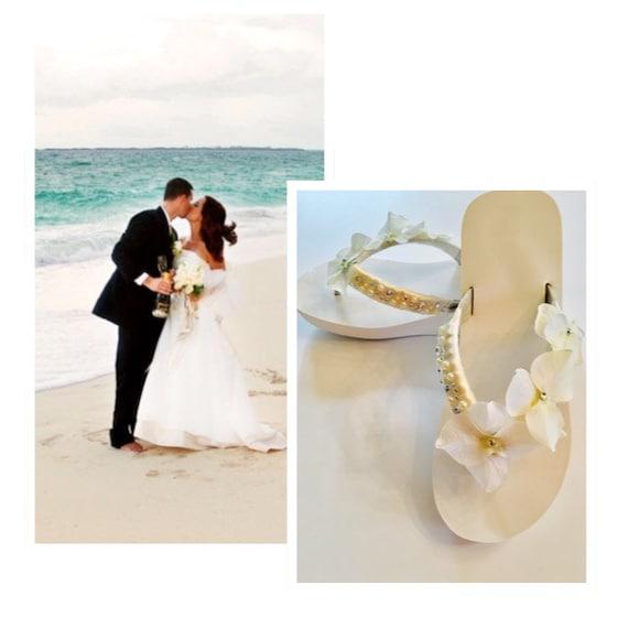 Wedding Flip Flopsbridal Flip Flops Wedges Bridal Shoes Beach Etsy