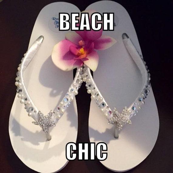 1443f655fdd640 Bridal Flip Flops Wedges. Wedding Flip Flops Sandals.Bridal