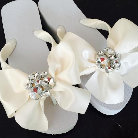 e0c06f091f593 Bridal Flip Flops Wedges Wedding Shoes Wedding Flip Flops