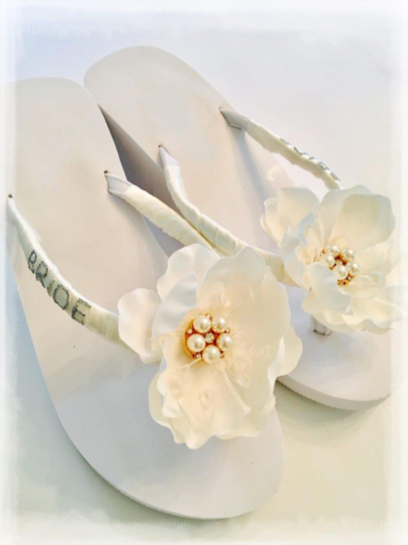 3d931ce86773 Bridal Flip Flops Wedding Flip Flops wedges Wedding Shoes