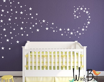 Baby Nursery Decals star confetti wall decals stickers for baby girl or baby boy WBSTRm