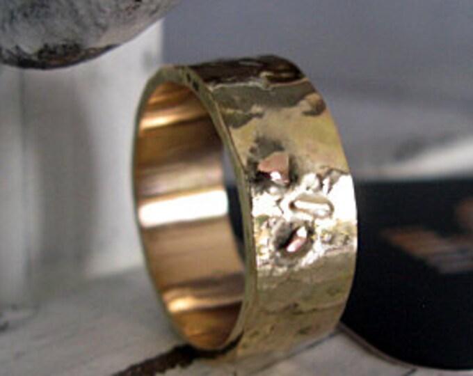 14K Gold 8mm Mens Wedding Band