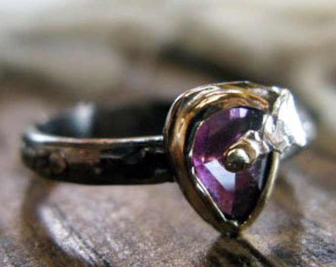 Purple Garnet Ring Size 6 1/2