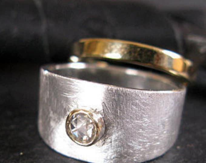 Rose Cut Diamond Engagement Ring Size 6