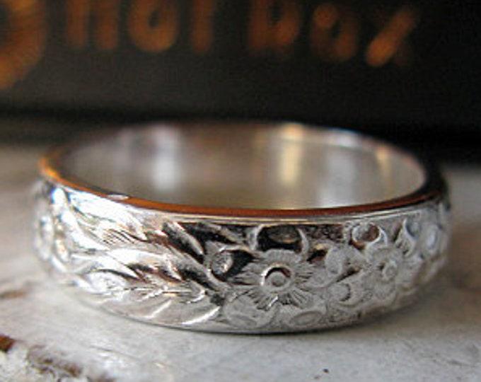 Vintage Sterling Silver Wedding Band 5mm