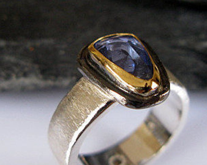 Genuine Untreated Blue Sapphire Ring Size 5 3/4
