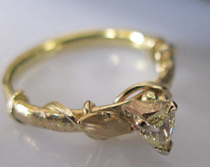 VS Diamond Twig Ring 14k Gold Size 5 1/2