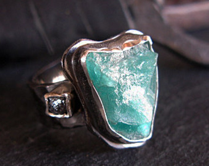 Natural Colombian Emerald Ring Size 9 1/2