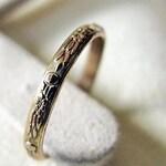 Vintage Wedding Band 14K Gold Wedding Ring 2.5 mm Gold Band Eternity Carved Elegant Floral Ring Anniversary Vintage Gold Wedding Band Antiqu