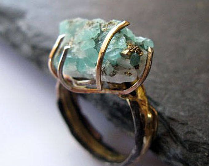 Natural Colombian Emerald Ring Size 5.5