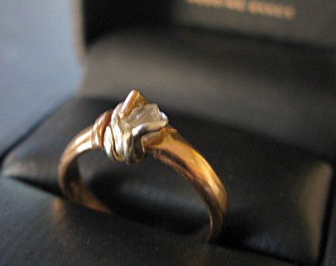 SALE Raw Diamond Ring Size 6 1/4