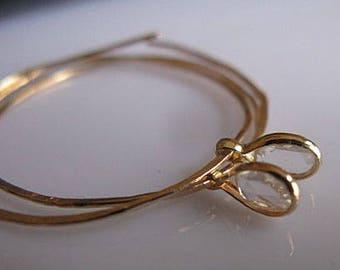 Diamond Hoop Earrings Genuine Diamond Drop Earrings Gold Hoops Rose Cut Diamond Earrings 14k Gold Threaders 14k Gold  Infinity Modern Unique