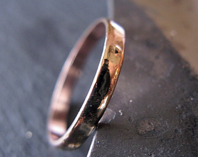 Gold Mens Wedding Band 3mm Size 11 1/2