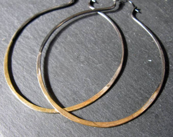 Sterling Silver 22K Gold Boho Hoop Earrings