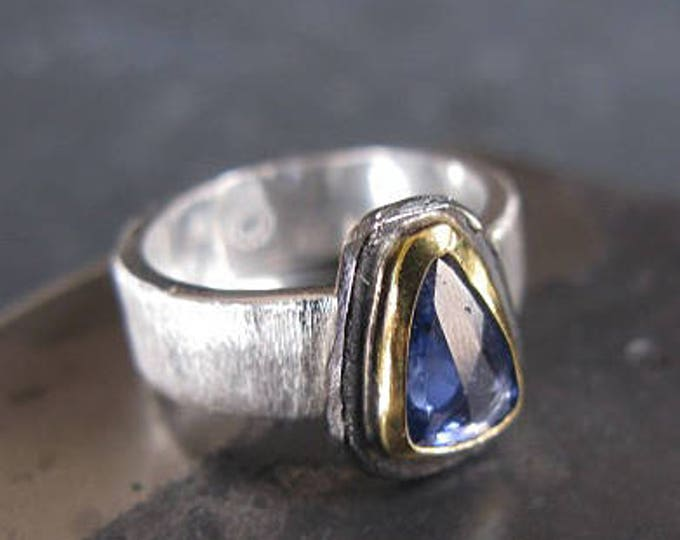 Genuine Blue Sapphire Ring Size 5 3/4