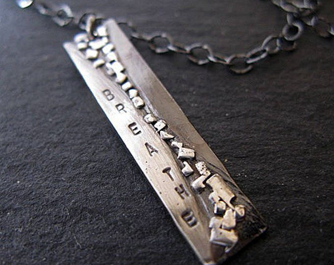 Breathe Pendant Necklace 18 Inch Sterling Silver