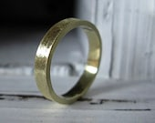 18K Green Gold Custom Wedding Band 4mm Brushed Finish Mens Ring